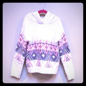 Justice Chenille Hooded Pullover Sweater, Size 8